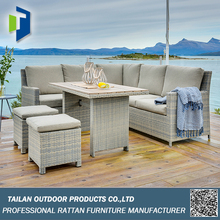 Outdoor furniture wicker with powder coating, handweaving wholesale rattan wicker furniture