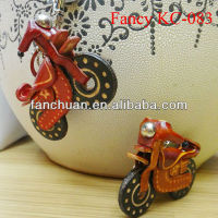 Cool motorcycle shaped genuine leather keyring