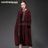 Small Order Wholesale Fancy Oversized Heavy Lady Long Winter Women Coat 2014