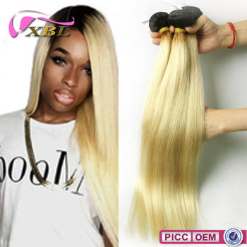 Ombre Peruvian Straight One Donor 8A Grade Virgin Weaving 100% Human Hair