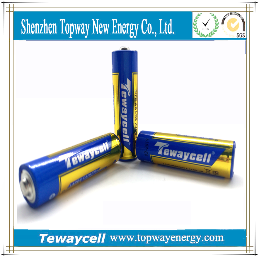 High quality AA 1.5V Zn/MnO2 alkaline battery