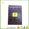 PE plastic ziplock bubble bag with recycle mark for reuseable