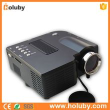 Black Portable LED Projector 24W Multimedia 1-3.8M Projection Distance Support 1080P HDMI VGA USB Port