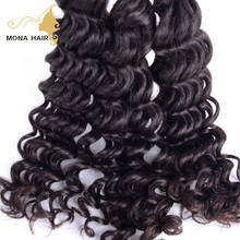 Top quality 100 percent indian remy human hair deep wave human hair for braiding