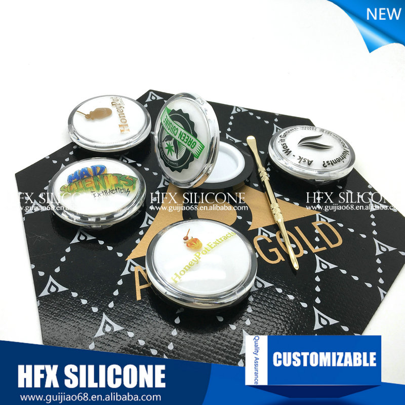 Silicone Concentrate Jar With Insert Set,Silicone Dab Jars Wax/oil/extracts