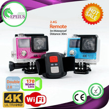 FACTORY OUTLETS H3R 4K WIFI REMOTE CONTROL DOUBLE SCREEN action camera 4k comparison 170 WIDTH ANGLE ACTION SPORT CAMERA