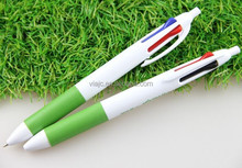 New muti color refills ballpoint pen with green grip
