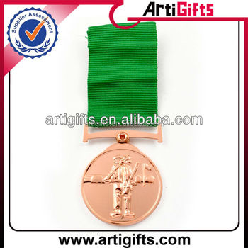 2016 Promotional copper plating metal medal badge