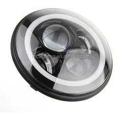 Popular Sales 3200lm 40W LED Chips off Road vehicle motorcycle LED Headlight 7inch led projector headlight