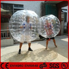 Top quality bodyzorb battle clear inflatable body zorbing ball for sale