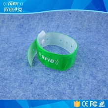 popular pvc security rfid one-time use bracelet