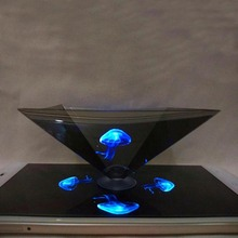Smartphone 3D hologram projector pyramid Mini Hologram for smartphone, 3D Hologram Display OEM logo