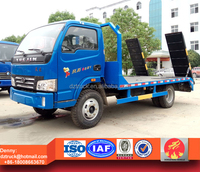 yuejin flat bed tow truck, excavator loading truck
