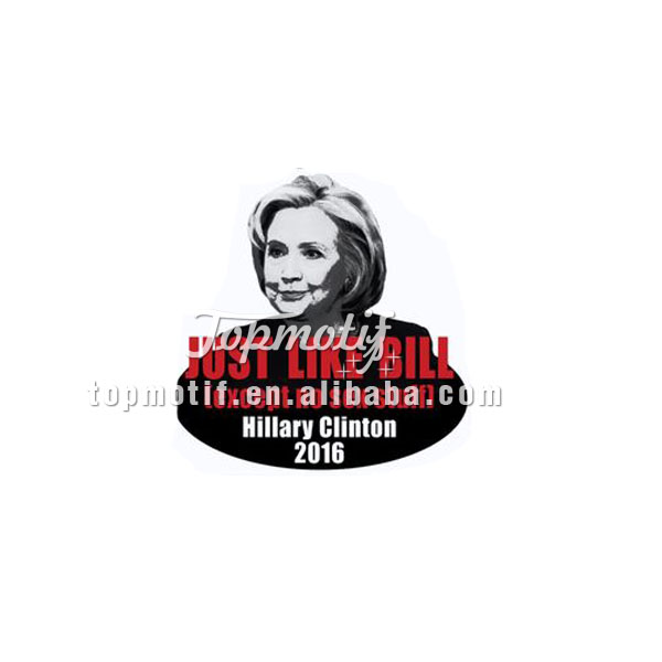 Brand new fashion design iron on vinyl transfer printing for Hillary 2016 vote