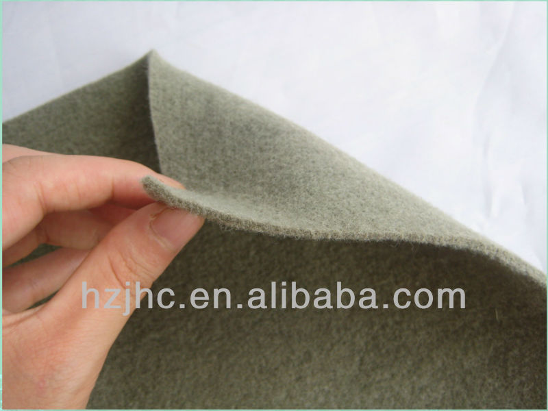 Needle-punched nonwoven fabric for car ceiling