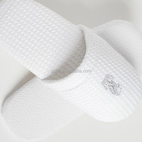 Preferntial white terry towel Disposable hotel bath slippers