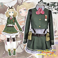 Japanese Anime Green Cosplay Halloween Costume Cosplay Full Set