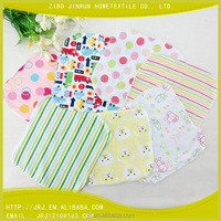 baby knitted printing washcloth gift
