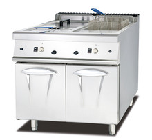28L/tank gas deep fryer with cabinet commercial chicken fryer machine