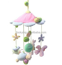 Baby functional musical rotate animal wind chimes plush toys