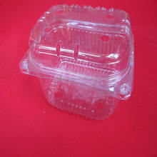 clear Transparent PET plastic strawberry clamshell box packaging for lettuce