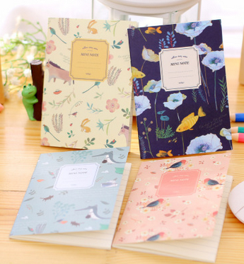 Stationery cartoon notebook weird animal nature , little notebook