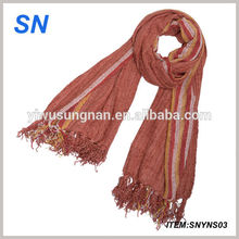 wholesale polyester cotton jersey scarves plain ombre shawl wrap