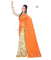 Multi Colour Wholesale Indian sari/saree with blouse stitching at Cheap prices