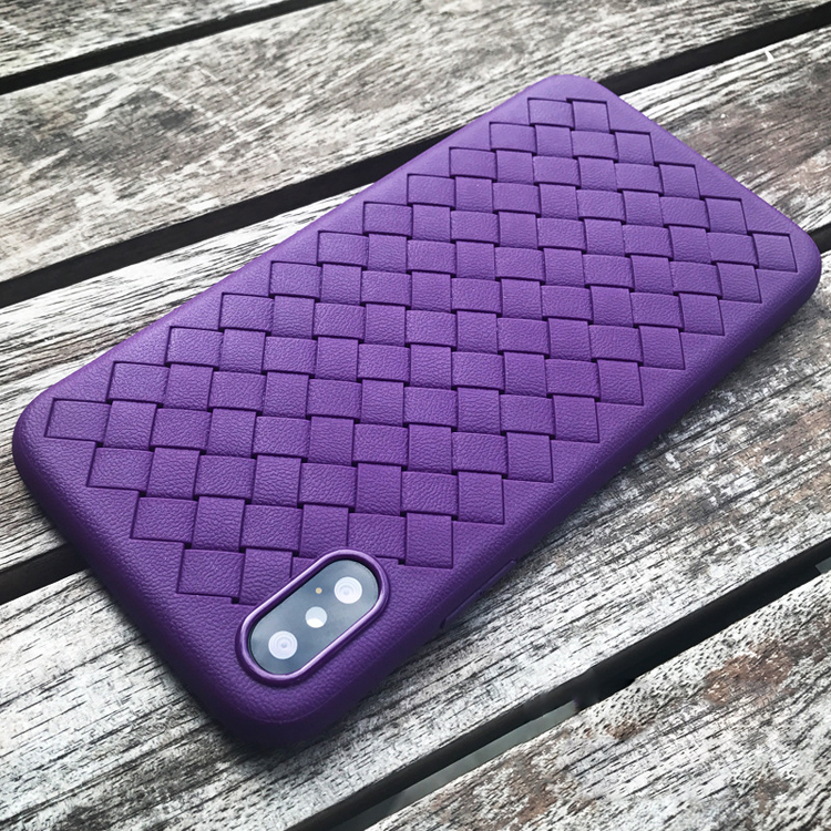 Purple Mobile Case New Soft TPU Plastic Case in Fashion for iPhone X