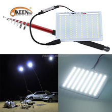 KEEN High Power 12V 48W 4.5M Telescopic Rod led outdoor Fishing light for Road Trip camping Lantern lamp with remote controller