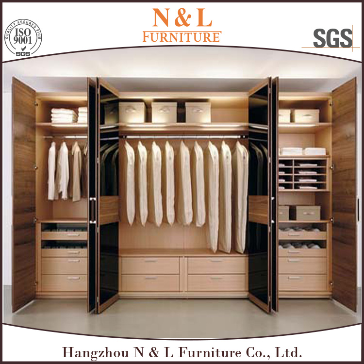 bedroom wardrobe flat pack, large wardrobe armoires, double door wardrobe design made in china
