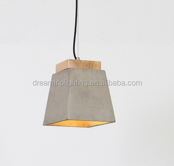 Loft industrial Vintage square bar cement Chandelier