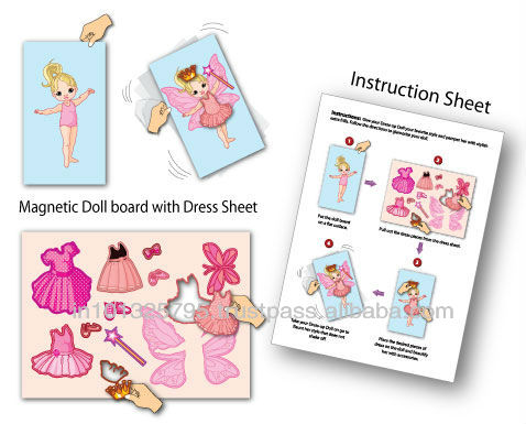Cheap Magnetic Dress Up Doll For Kids