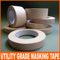 Utility grade - masking tape crepe paper based natural rubber adhesive single sided