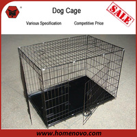 High Quality Cheap Portable 2 Doors 61x46x51cm Metal Large Dog Kennel For Sale