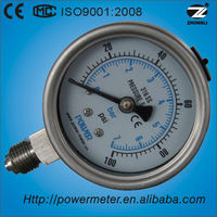 60mm wika type all stainless steel oil liquid filled air pressure gauge manometer design by CE certificate