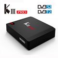 2017 very hot selling model 3GB DDR4 KIII Pro DVB S912 Android 6.0 TV BOX 4k satellite receiver