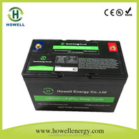 High quality 12v 100Ah Lifepo4 Battery Pack for Solar Power Storage System / lithium Lifepo4 battery pack 12v 100Ah