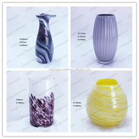 Handmade blown art decorative unique shape glass vases for centerpieces wedding