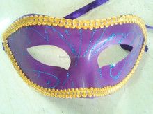 carnival simple Masquerade party purple plastic mask