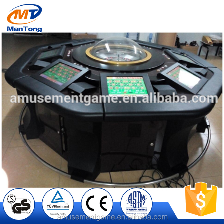 6/8/10/12 players touch screen electronic roulette machine from Mantong factory