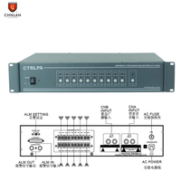 CTRLPA Professional paging system 10 zone pa system speaker selector