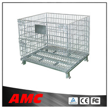 Heavy Duty Stackable Steel Wire Mesh Storage Cage