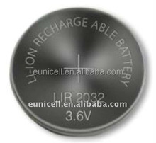 LiMnO2 Battery Type 3.6v Rechargeable Lithium Button Cell LIR2016,LIR2025, LIR2032, LIR2430,LIR2450, LIR2477.