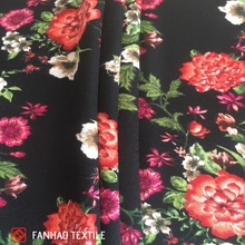 China suppliers popular export elegant digital print pure silk chiffon fabrics