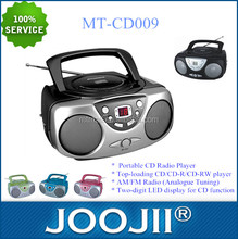 New Mini Portable Boombox MP3 Player with USB SD,high quality CD Radio