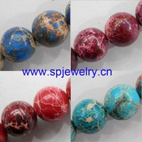 dyed imperial jasper beads, round 4-16mm,16-inch per strand