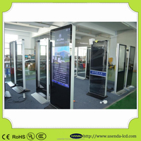 Vertical standing 55inch network LCD advertising display for shopping mall