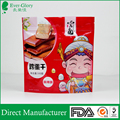 Food Grade Quality three sides sealed zipper bags for snack food packaging