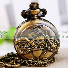 New fashion motorbike designs mens chain pocket watch bulk sales.